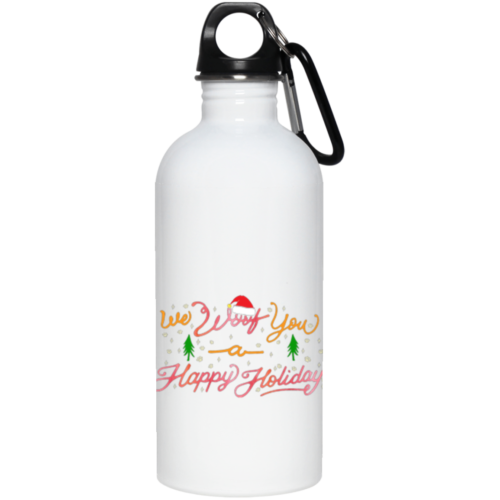 We Woof You A Happy Holiday Stainless Steel Water Bottle