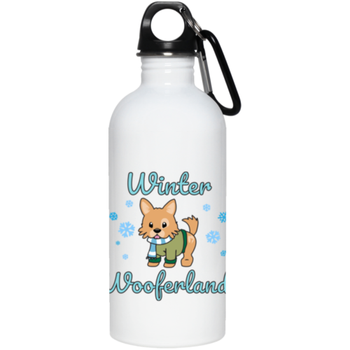 Winter Wooferland Stainless Steel Water Bottle