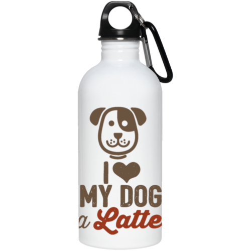 I Love My Dog A Latte Stainless Steel Water Bottle
