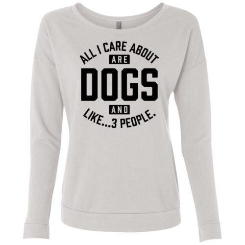 Dogs And 3 People Scoop Neck Sweatshirt