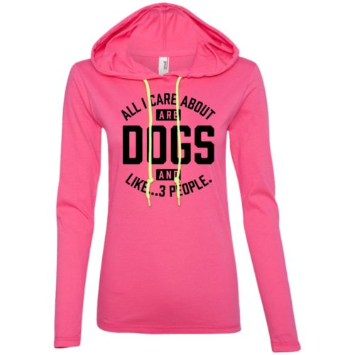 Dogs And 3 People Ladies' Lightweight T-Shirt Hoodie