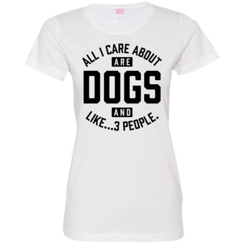 Dogs And 3 People Fitted Tee