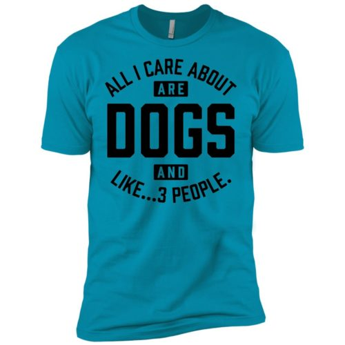 Dogs And 3 People Premium Tee