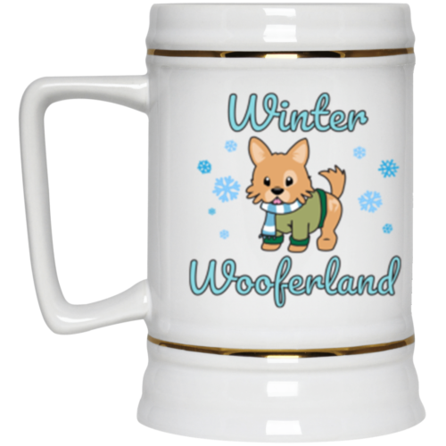 Winter Wooferland Beer Stein 22oz.