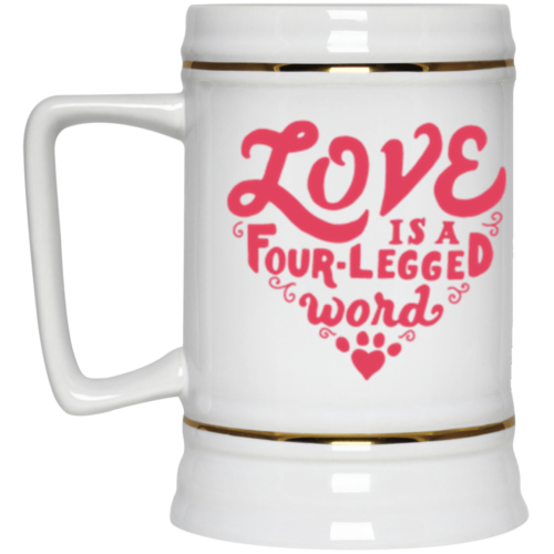 Four Legged Word Beer Stein 22oz.