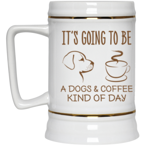 Dogs & Coffee Day Beer Stein 22oz.