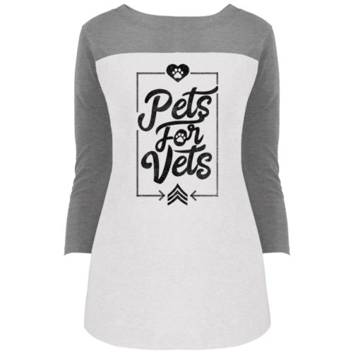 Pets For Vets Rally 3/4 Sleeve T-Shirt