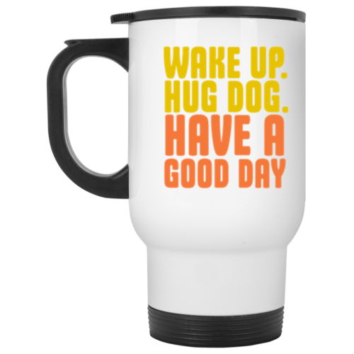 Wake Up Stainless Steel Travel Mug
