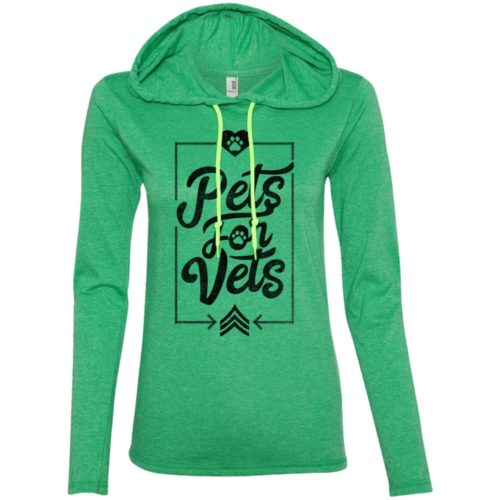 Pets For Vets Ladies' Lightweight T-Shirt Hoodie