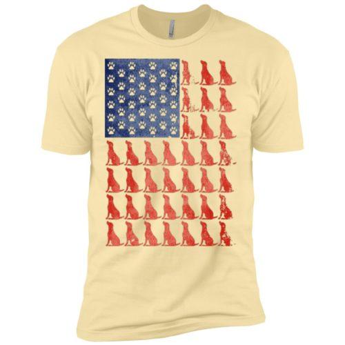Red Dog Blue Paw Premium T-Shirt