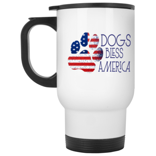 Dogs Bless America Stainless Steel Travel Mug