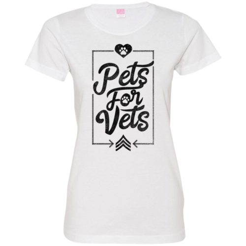 Pets For Vets Fitted Tee