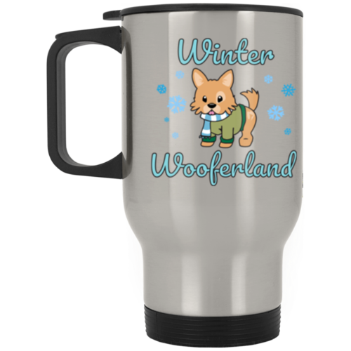 Winter Wooferland Stainless Steel Travel Mug