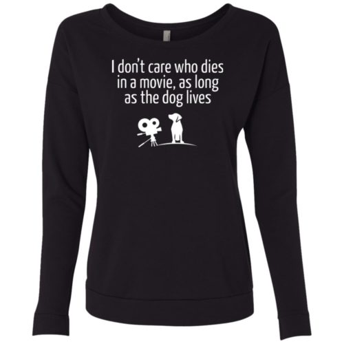 The Dog Lives Scoop Neck Sweatshirt