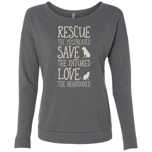Rescue Them Ladies' Scoop Neck Sweatshirt