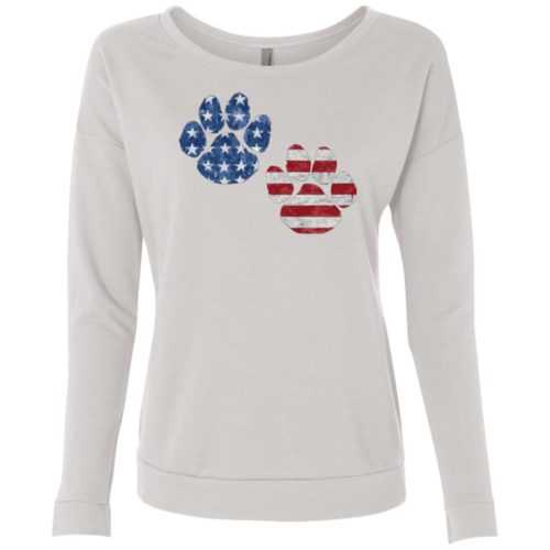 Flag Paws USA Design Scoop Neck Sweatshirt
