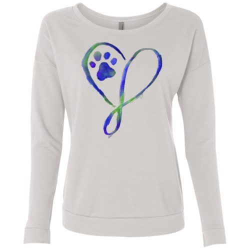 Elegant Heart Ladies' Scoop Neck Sweatshirt