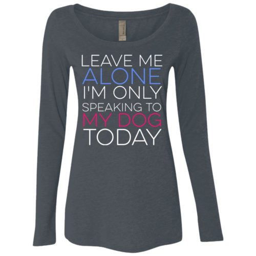 Leave Me Alone Fitted Scoop Neck Long Sleeve