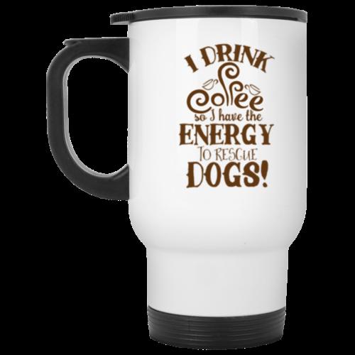I Drink Coffee Because Stainless Steel Travel Mug