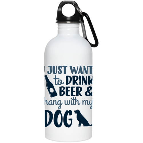 Drink Beer & Hang Stainless Steel Water Bottle