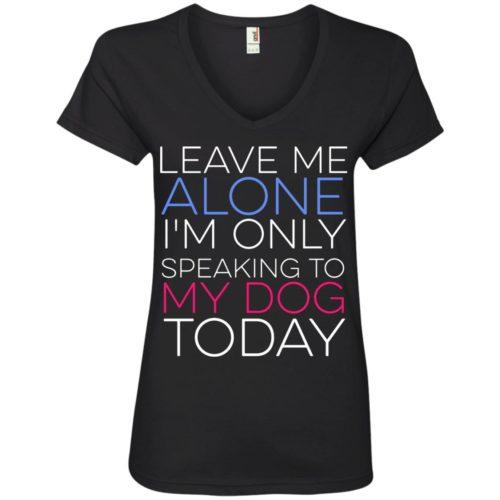Leave Me Alone V-Neck Tee