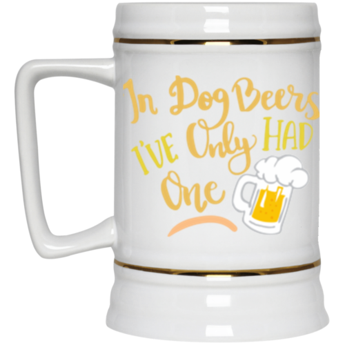 In Dog Beers Beer Stein 22oz.