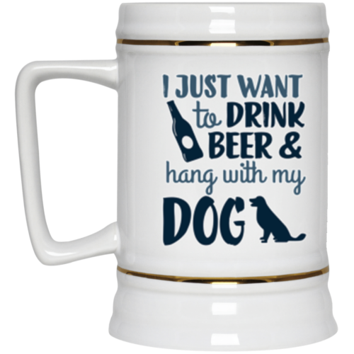 Drink Beer & Hang Beer Stein 22oz.