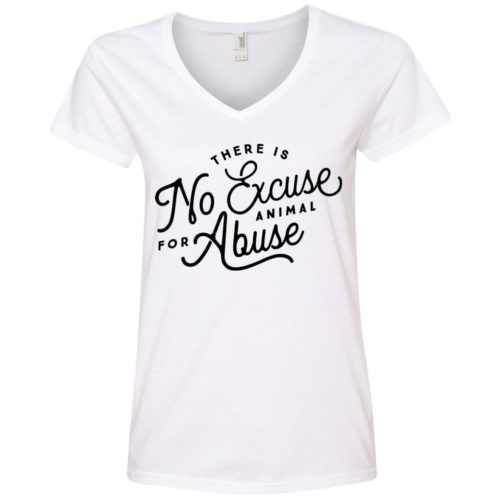 No Excuse For Abuse V-Neck Tee
