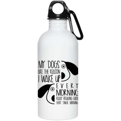 The Reason I Wake Up Stainless Steel Water Bottle
