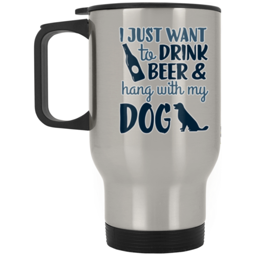 Drink Beer & Hang Stainless Steel Travel Mug