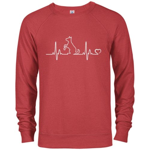 Dog Heartbeat Premium Crew Neck Sweatshirt