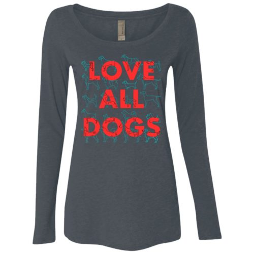 Love All Dogs Fitted Scoop Neck Long Sleeve