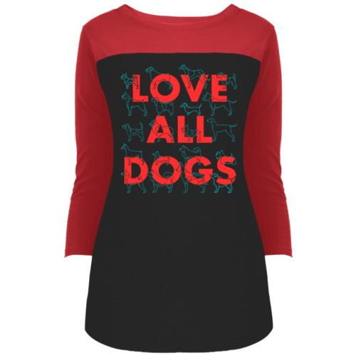 Love All Dogs Colorblock 3/4 Sleeve