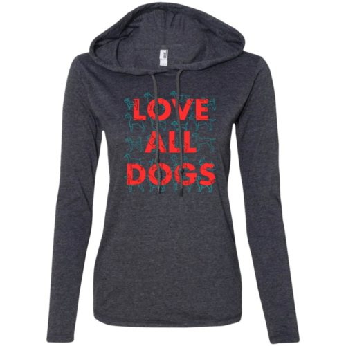 Love All Dogs Fitted T-Shirt Hoodie