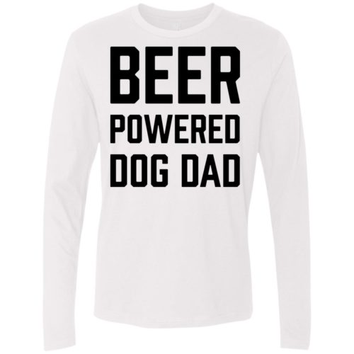 Beer Powered Dog Dad Premium Long Sleeve Tee
