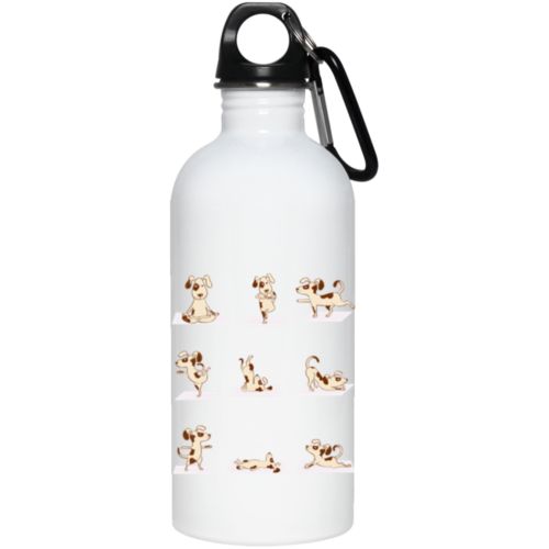 Dog Yoga Poses Stainless Steel Water Bottle