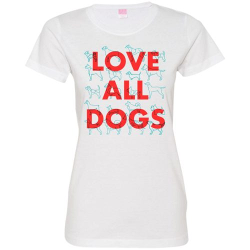 Love All Dogs Fitted Tee