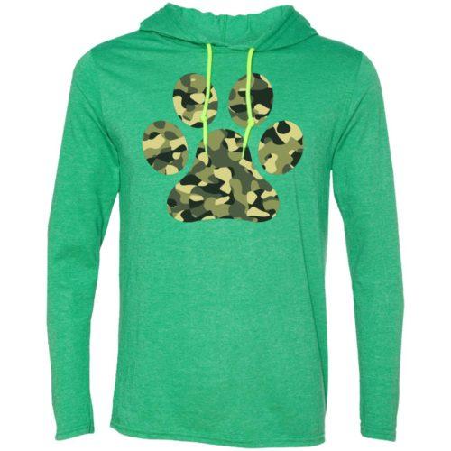 Camo Paw Prints T-Shirt Hoodie