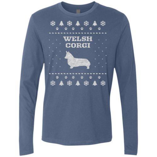 Welsh Corgi Christmas Premium Long Sleeve Tee