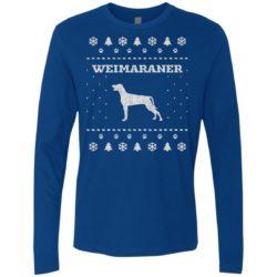 Weimaraner Christmas Premium Long Sleeve Shirt