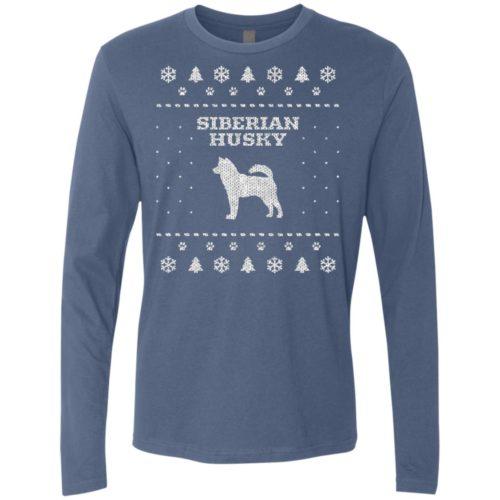 Siberian Husky Christmas Premium Long Sleeve Tee