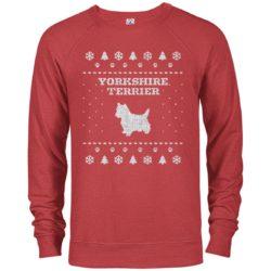 Yorkshire Terrier Christmas Premium Crew Neck Sweatshirt