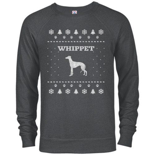 Whippet Christmas Premium Crew Neck Sweatshirt