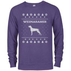 Weimaraner Christmas Premium Crew Neck Sweatshirt