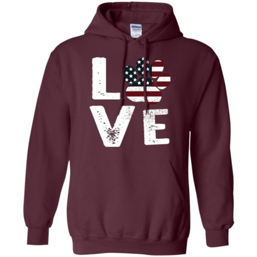 Love Paw USA Pullover Hoodie