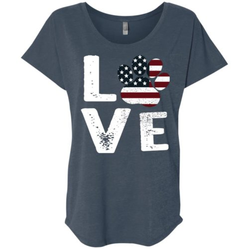 Love Paw USA Ladies' Slouchy T-Shirt
