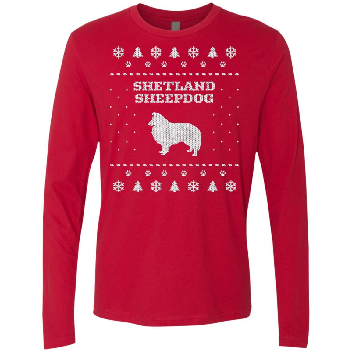 Shetland sheepdog christmas premium long sleeve shirt iheartdogs shetland sheepdog christmas premium long sleeve shirt nvjuhfo Images