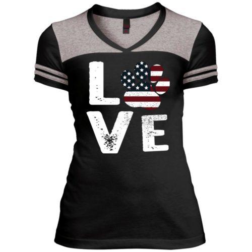 Love Paw USA Varsity V-Neck