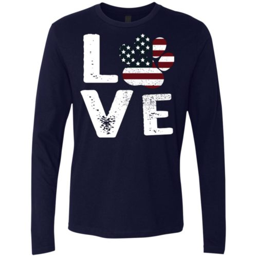 Love Paw USA Premium Long Sleeve Tee
