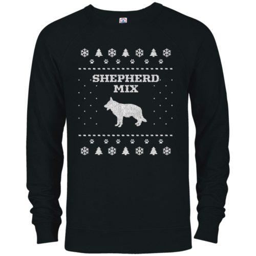 Shepherd Mix Christmas Premium Crew Neck Sweatshirt